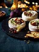Baked Camembert with orchard fruits