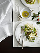 Pear, fennel and blue cheese salad