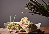 Green asparagus wrap