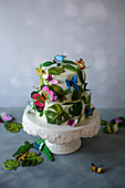 A colourful jungle cake