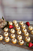 Mini strawberry Bundt cakes