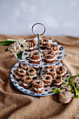 Mini Schoko-Donuts mit Cremefüllung