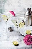 Classic Margarita cocktails