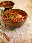 Hungarian goulash with peppers