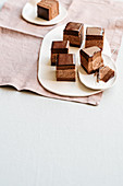 Rigo jancsi (chocolate cream slices, Hungary)