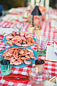 Shrimp on table, Sweden