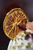 A candied lemon slice