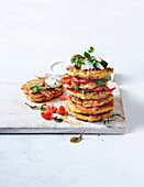 Cheesy bacon and zucchini fritters