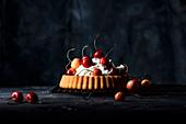 Cherry cake with mascarpone