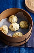 Char Siu Bao (Gedämpfte Schweinefleisch-Täschchen, China)