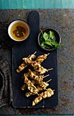 Honey and jasmine tea, chicken kebabs with coriander