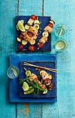 Salmon and Tomato Kebab