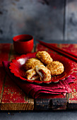 Jin Deu (Sesame Balls with Red Bean Filling, China)