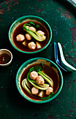 Cuttlefish Dumplings in Spicy Broth
