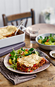 Lasagne alla bolognese (lasagne with beef and bechamel sauce, Italy)