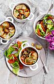 Lancashire Hotpots mit Salat
