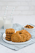 Healthy cookies with almond and coconut, without flour and sugar