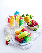 Coloured ice lollies