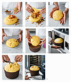 A Panettone being made