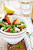 Bean salad with feta