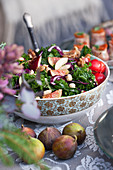 Kale salad with figs and hazelnuts for Christmas