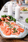 Smoked salmon with fennel and kale pesto for Christmas