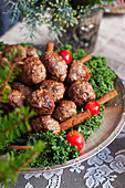 Meatballs with cinnamon for Christmas