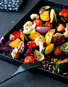 Indian style spicy roast vegetables