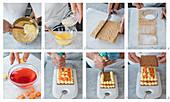 Millefeuille mit Vanillecreme und Alchermes-Biskuit zubereiten