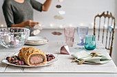 Beef Wellington with radicchio rolls