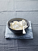 Mascarpone in a grey bowl