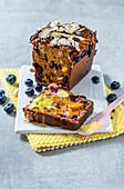 Peanut butter & blueberry loaf