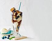 Marshmallow hot chocolate sundae