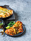 Tequila and lime steak enchiladas