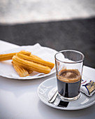 Churros with Spanish coffee