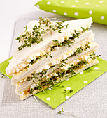 Egg sandwich with garden cress