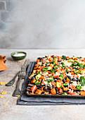 Mexican nachos tray