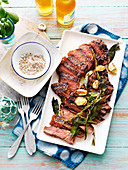 Herb rump with coriander salt