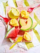 Mango-Zitronengras-Sorbet