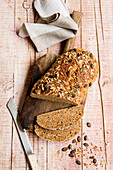 Fine wholemeal spelt and oat bread