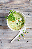 Courgette and broccoli soup