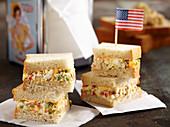 Amerikanisches Egg-Sandwich