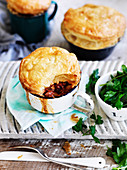 Eggplant and Pasta Pot Pies