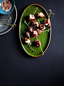Bacon-wrapped lychees with Chilli Salt