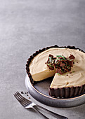 White russian tart with kahlua