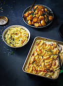 Indulgent parmesan mash, Creamy pptato traybake, Ultimate roasties