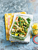 The glutenfree lunch box with chickpea chicken salad