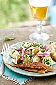Fish with potatoe salad