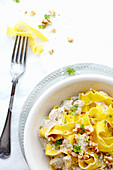 Tagliatelle with nut sauce