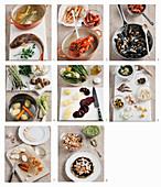 Cappon magro (Fisch-und Meeresfrüchte-Millefeuille mit Gemüse & Salsa verde, Italien) zubereiten
